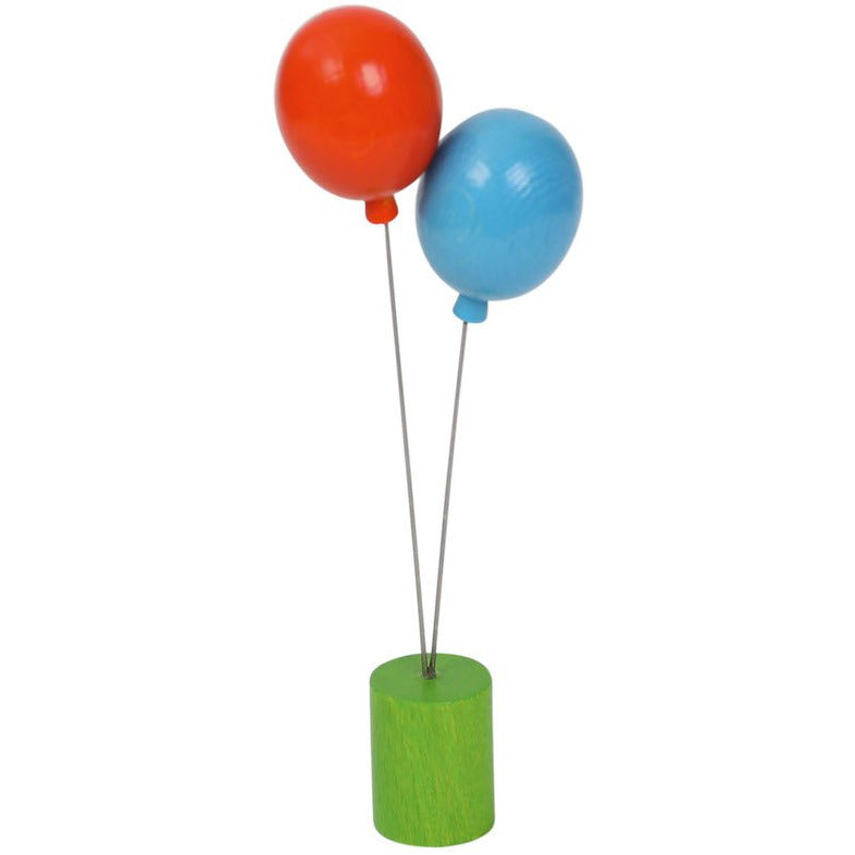Stecker Luftballons blau/orange