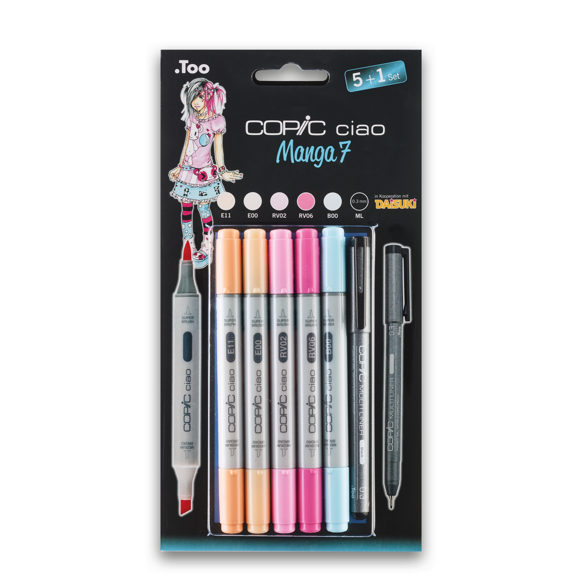 COPIC ciao 5+1 Set Manga 7