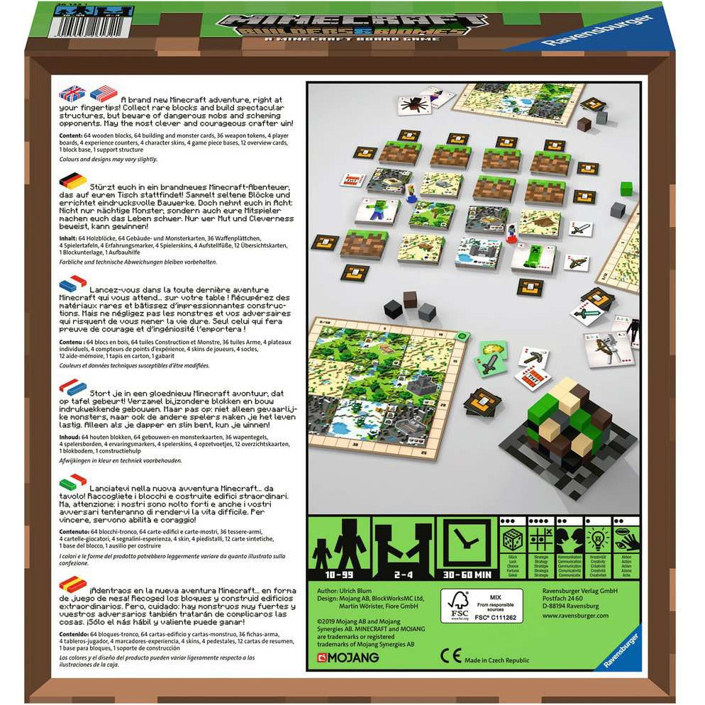 Minecraft Board Game  D/F/I/NL/EN