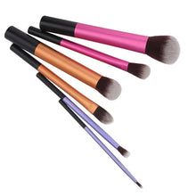 Load image into Gallery viewer, 6 Piece Colorful Pro Makeup Brush Set
