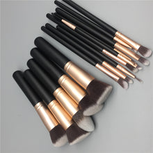 Load image into Gallery viewer, 14 Piece Black Makeup Brush Set