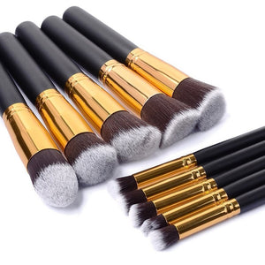10 Piece Synthetic Brush Set