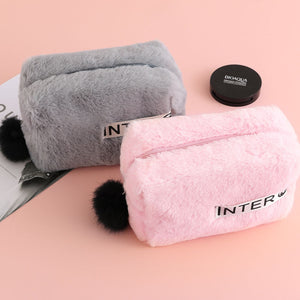 Furry Cosmetic Bag