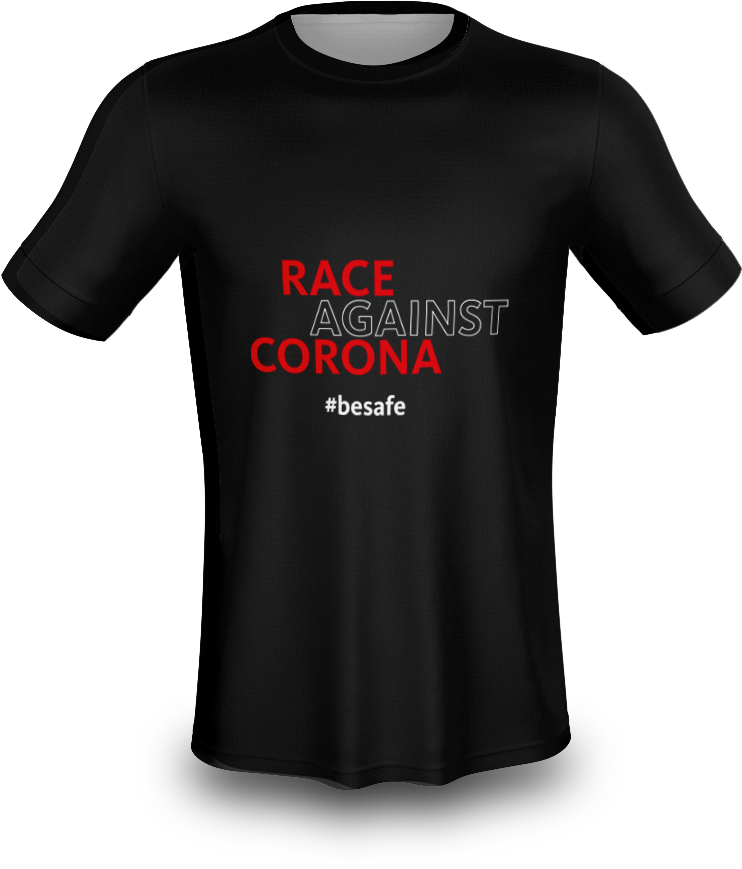 "T-Shirt ""Race against Corona"" Basic 