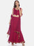 Plain Pink Flared Floor Length Lehenga Set