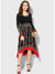 Printed Full Sleeve Round Neck Mid Thigh Asymmetric Dress