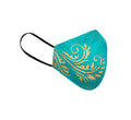 Printed Masks Pack of 3 in Turquoise