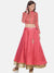Plain Pink Flared Floor Length Reversible Lehenga Set