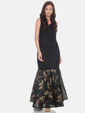Ira Soleil Floral Printed Fish-Cut calf Length Skirt