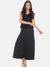 Black Plain Floor Length Palazzo