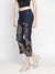 Printed Blue Mid-Thigh Pants