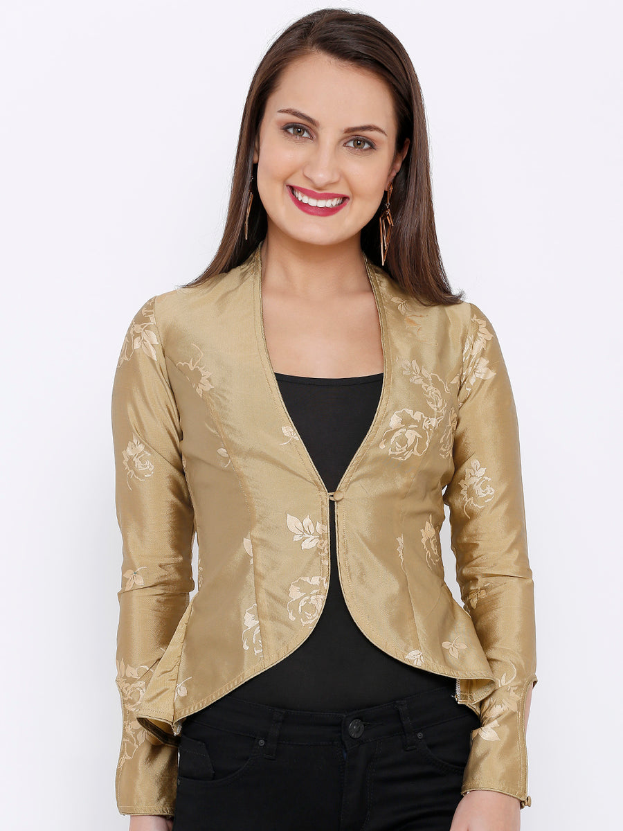 Ira Soleil Women Long sleeve Gold Top