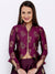 IRA SOLEIL PURPLE FLORAL PRINTED JACKET WITH SKIRT
