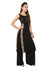 Black Plain Sleeveless Round Neck Calf Length Kurti