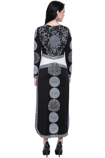 Ira Soleil Printed With Dual Colour Long A-line kurti
