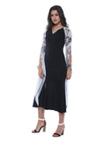 Ira Soleil Capelet Sleeve Maxi Calf Length Dress