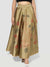 Gold Reversible Floor Length Skirt