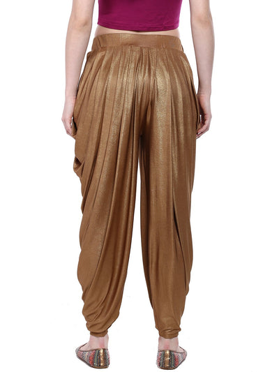 Gold Plain Jodhapuri Pants for Women