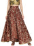 Gold Printed Brown Floor Length Skirt
