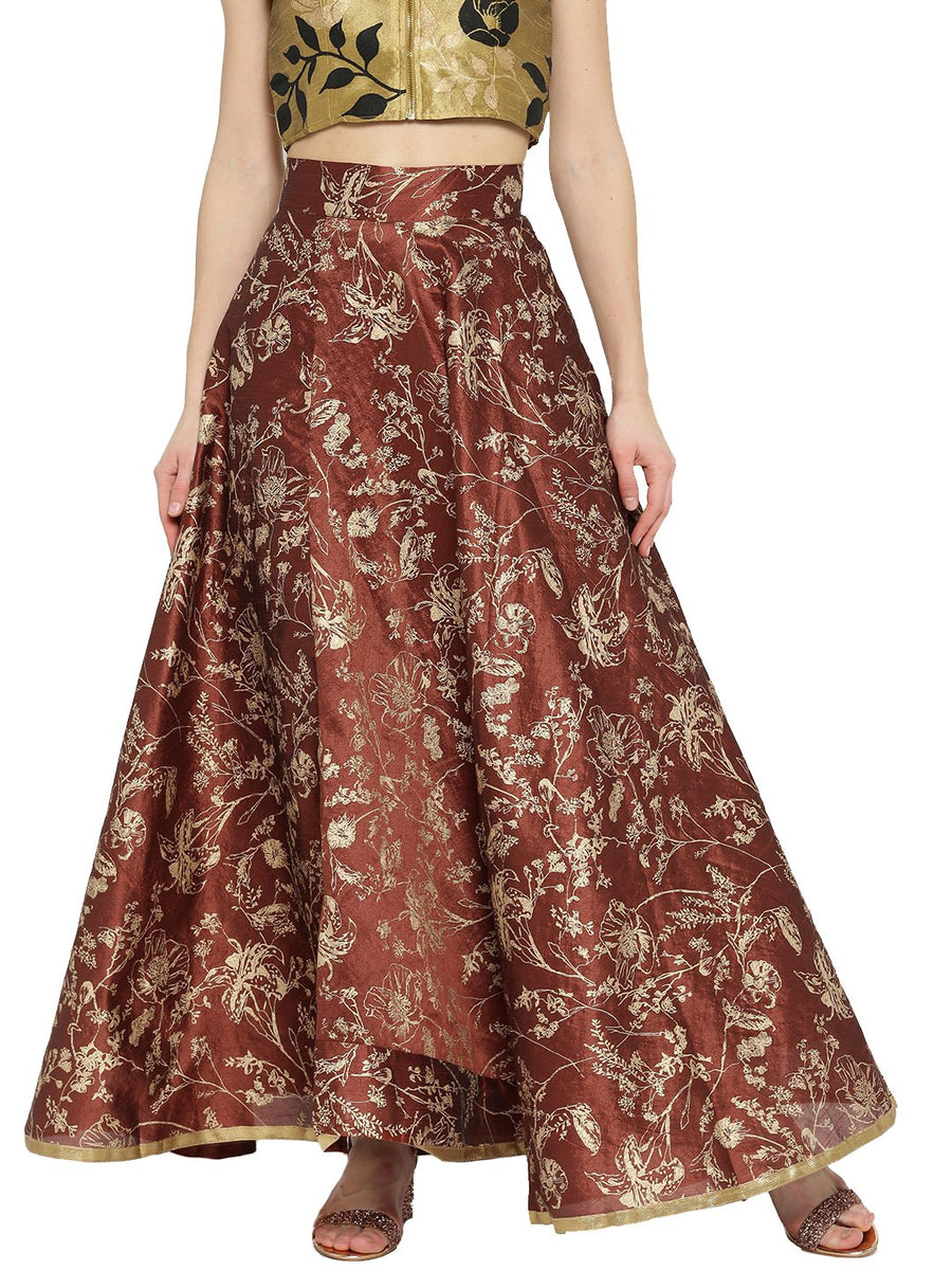 Embroidered Floor Length Skirt