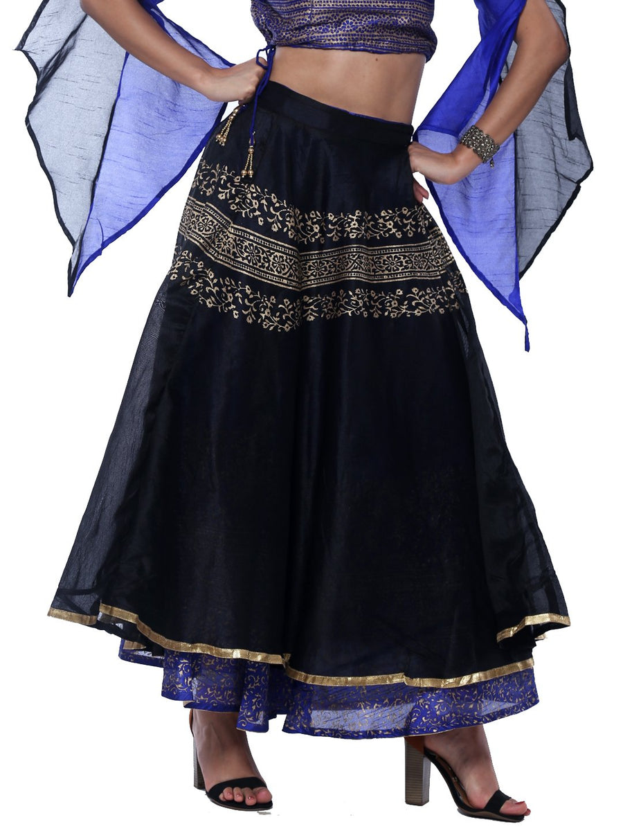 Ira Soleil Reversible Printed Floor Length Lehenga