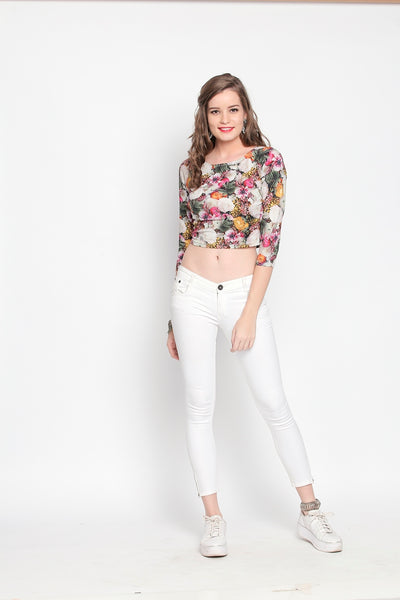 Ira Soleil Girl Next Door Crop Top