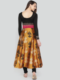 Ira Soleil Embellished Printed With Dual Colour Anarkali kurti