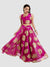 Pink Floral Print Floor Length Skirt