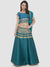 Ira Soleil Green Printed Floor Length Readymade Lehenga Set