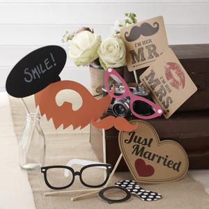 Photobooth Set Just Married - Gluecksboutique®