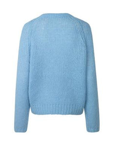 Carlie Mohair Blend Jumper light blue - Gluecksboutique®