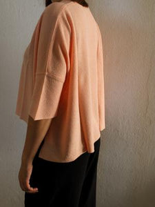 Ramie Top Ines apricote - Gluecksboutique®