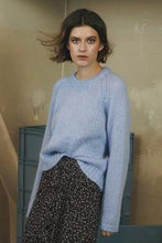 Laden Sie das Bild in den Galerie-Viewer, Carlie Mohair Blend Jumper light blue - Gluecksboutique®