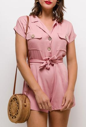 Playsuit Jumpsuit Rosa - Gluecksboutique®