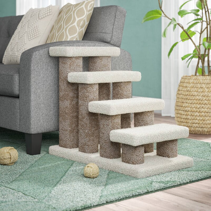 Florine Deluxe Doggie 4 Step Pet Stair by Archie and Oscar AOSC1595