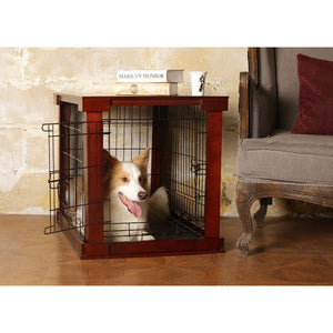 Merry Products Cage with Crate Cover, Mohogany, Small - Zoovilla MPSC001