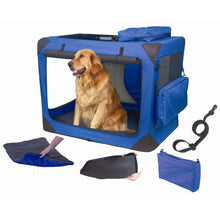 Load image into Gallery viewer, Pet Gear Generation II Blue Deluxe Portable Soft Dog Crate - PG5536BS