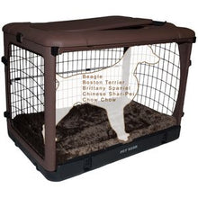 Load image into Gallery viewer, Pet Gear The Other Door Steel Crates With Pad and Carry Bag Chocolate 36inch - PG5936BCH