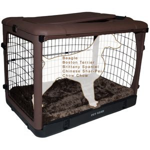 Pet Gear The Other Door Steel Crates With Pad and Carry Bag Chocolate 36inch - PG5936BCH