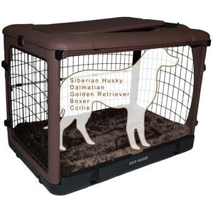 Pet Gear The Other Door Steel Crates With Pad and Carry Bag Chocolate 42inch - PG5942BCH