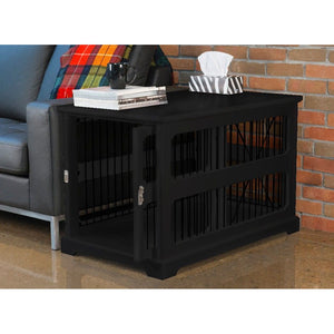 Merry Products Slide Aside Crate And End Table, Black, Medium-PTH0651721710