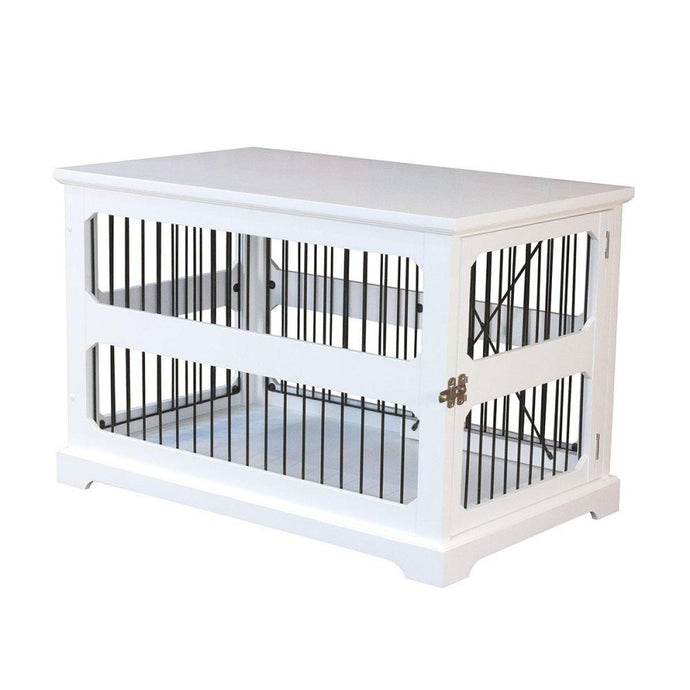 Merry Products Slide Aside Crate And End Table, White, Medium-PTH0641720110