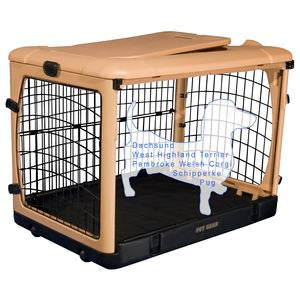 Pet Gear The Other Door Steel Crates With Pad and Carry Bag Tan 27inch - PG5927TN