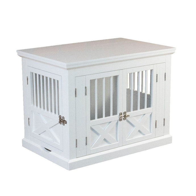 Merry Products Triple Door Dog Crate, Medium, White Zoovilla PTH0662020110