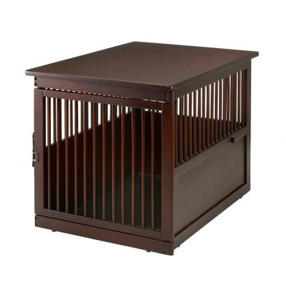 Richell Wooden End Table Pet Crate Large