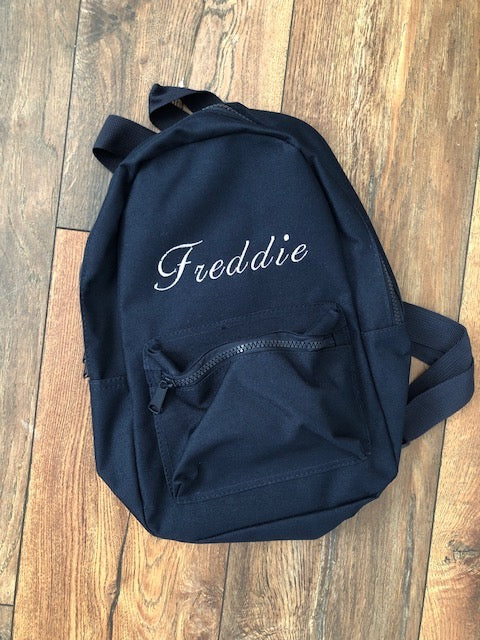 Personalised Navy Toddler Back Pack