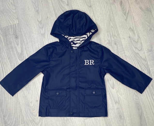 Personalised Navy Rain Jacket