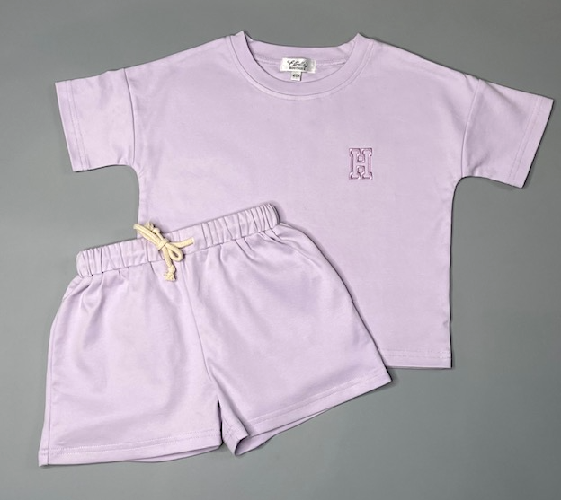 Personalised Lilac Short Set