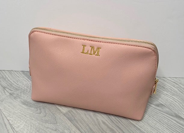 **SALE**Personalised Soft Pink Cosmetic Bag
