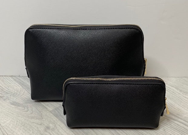 **SALE**Personalised Black Cosmetic Bag